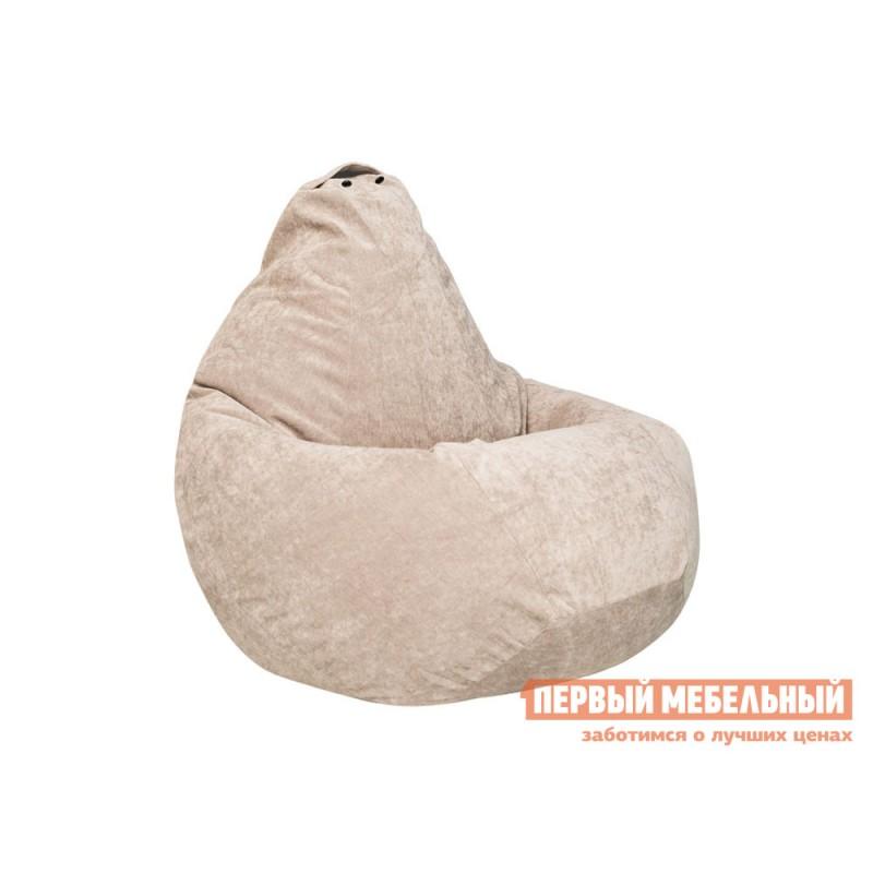 Кресло-мешок  Кресло-мешок Микровельвет Бежевый микровельвет, 2XL