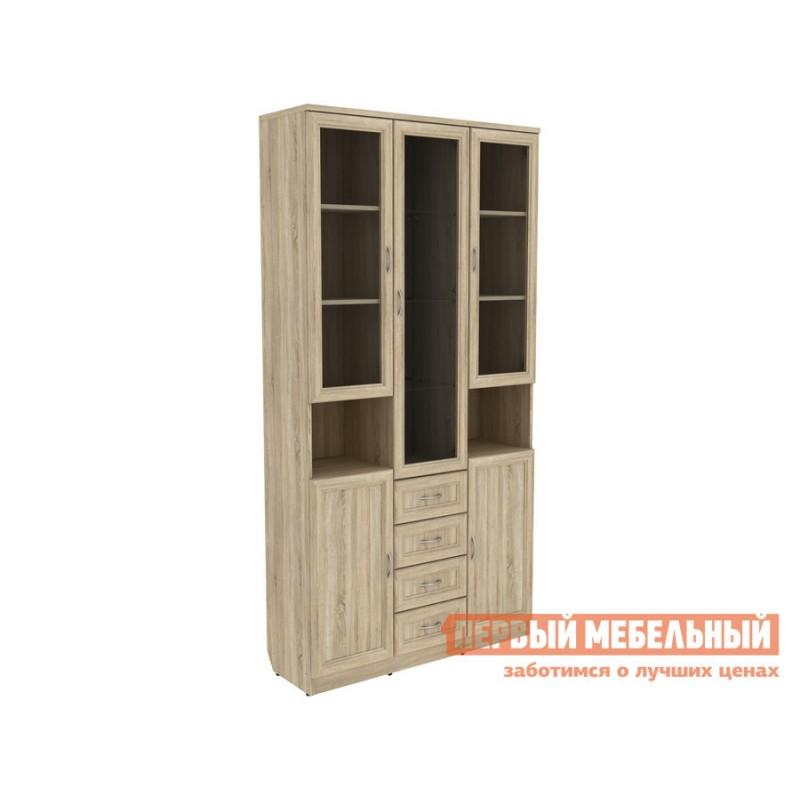 Шкаф-витрина  Мерлен 210 с ящиками Дуб Сонома