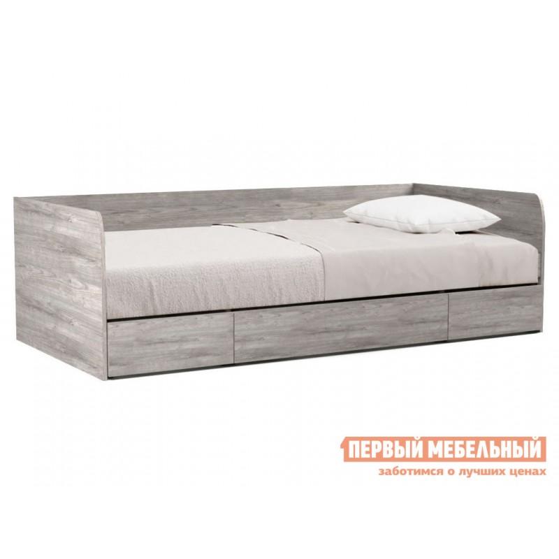 Детская кровать  Тахта Денвер с ящиками 90х200 Риббек серый