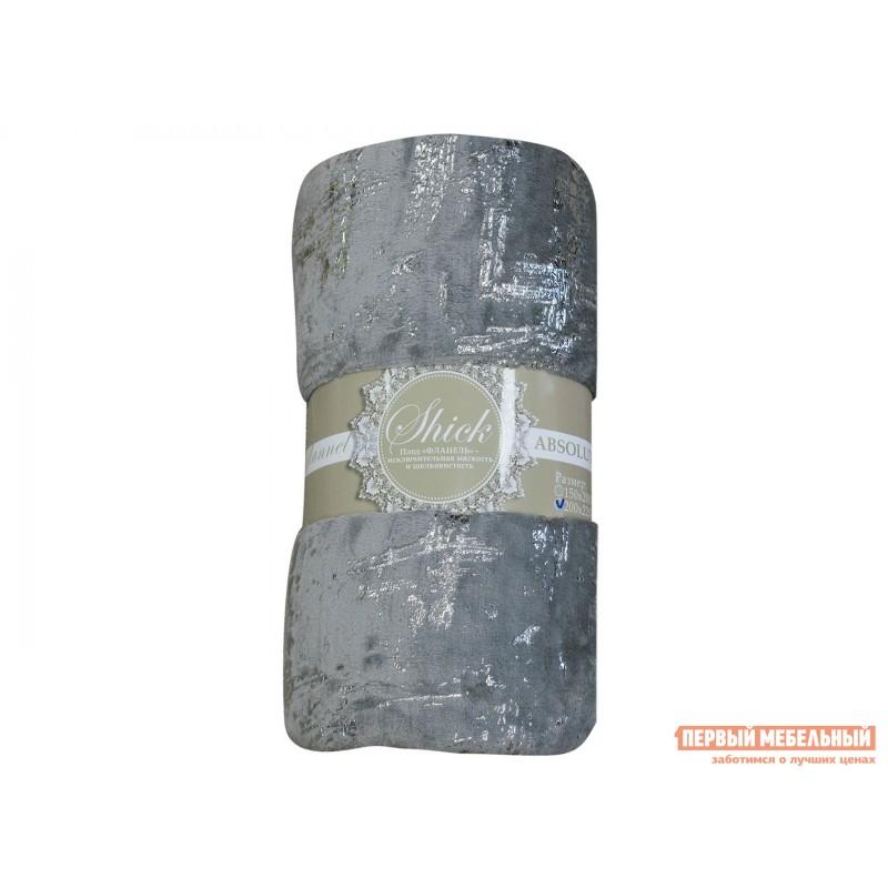 Покрывало  Плед Absolute TF FNL GY3-SL 2022 s-мазки 6549 Серый, фланель, 1500 Х 2000 мм