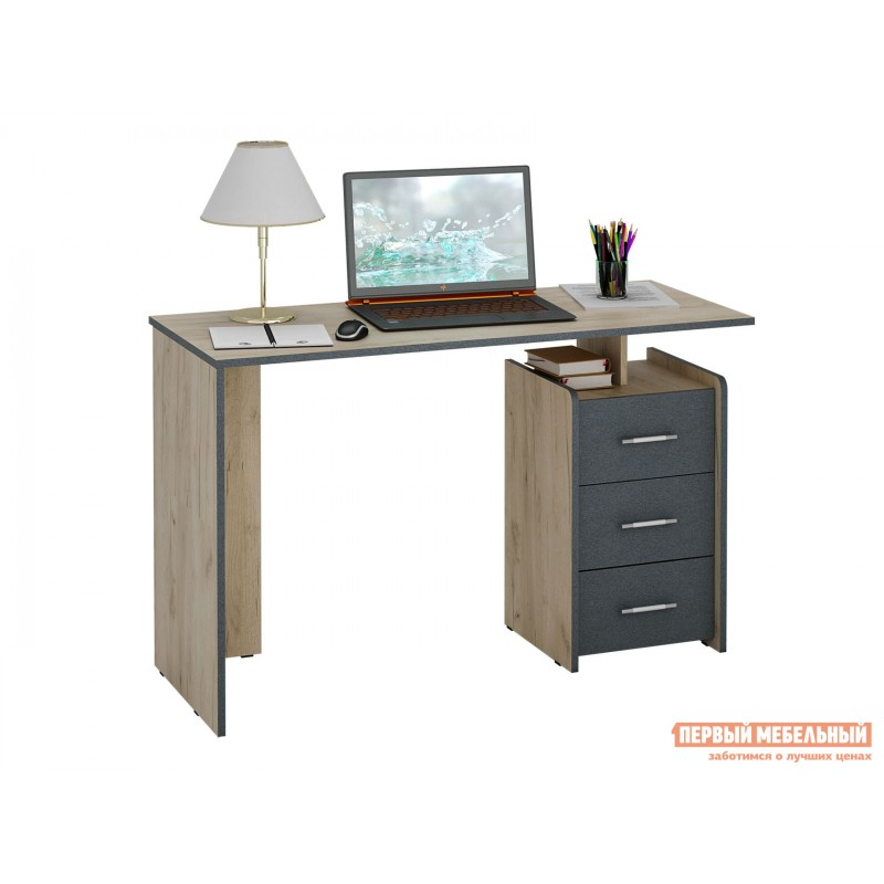 Письменный стол  Слим Дуб крафт / Серый, 1200 мм