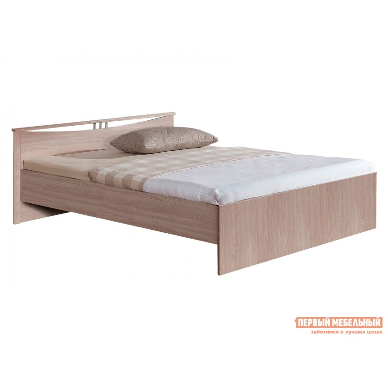 Двуспальная кровать  Кровать Мелисса Шимо светлый, 1400 Х 2000 мм