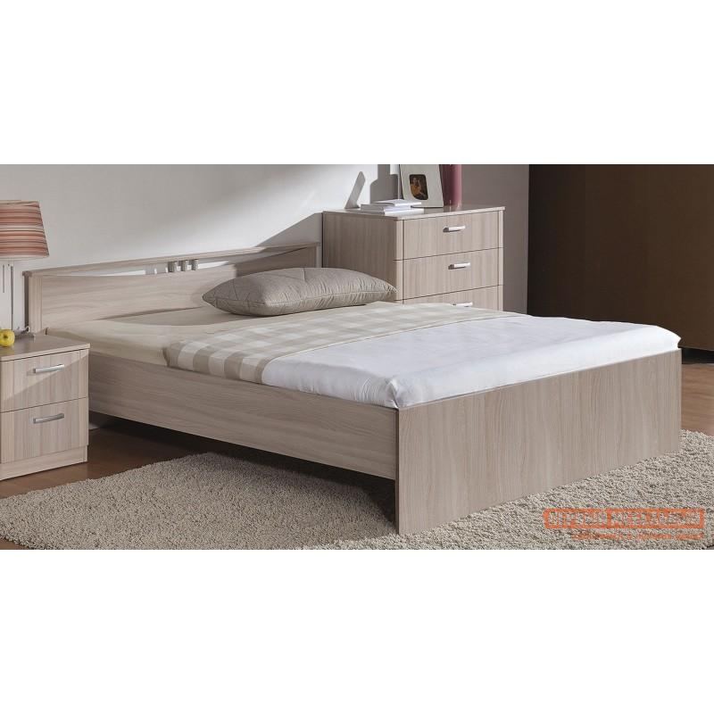 Двуспальная кровать  Кровать Мелисса Шимо светлый, 1400 Х 2000 мм (фото 2)