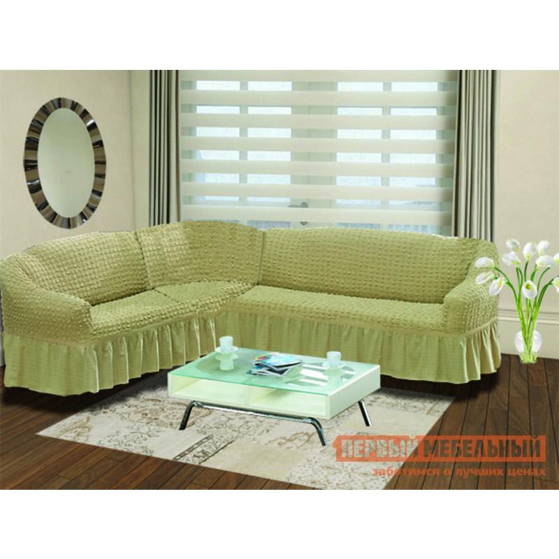 Чехол для мебели  Чехол на диван угловой Стамбул Бежевый, Левый
