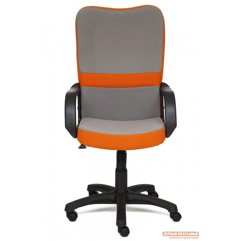 Кресло руководителя  CH757 Ткань серая/оранжевая, С27/С23 (фото 2)