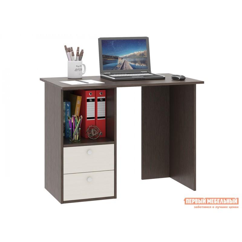 Письменный стол  Прайм-34 Венге / Дуб молочный
