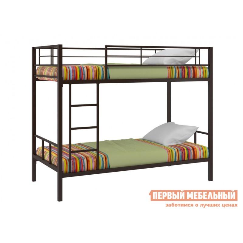 Кровать  Двухъярусная кровать Севилья-2 Коричневый, Без полки и ящика