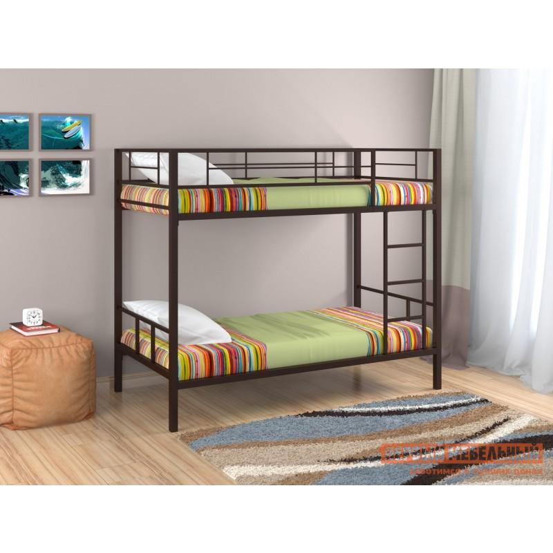 Кровать  Двухъярусная кровать Севилья-2 Коричневый, Без полки и ящика (фото 2)