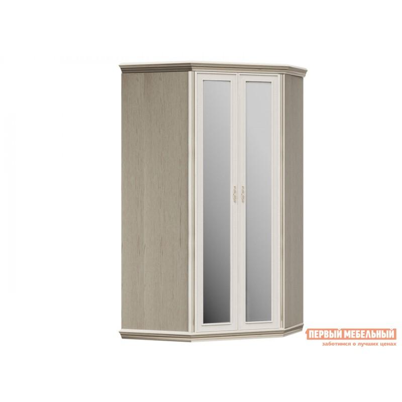 Распашной шкаф  Шкаф угловой без пеналов Венето / с зеркалами Дуб молочный