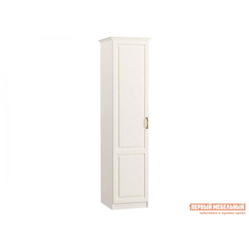 Распашной шкаф  Пенал 13.27 Ливерпуль Ясень Ваниль / Белый, С карнизом