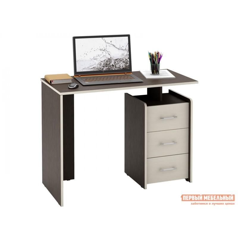 Письменный стол  Слим Венге / Дуб Молочный, 1030 мм