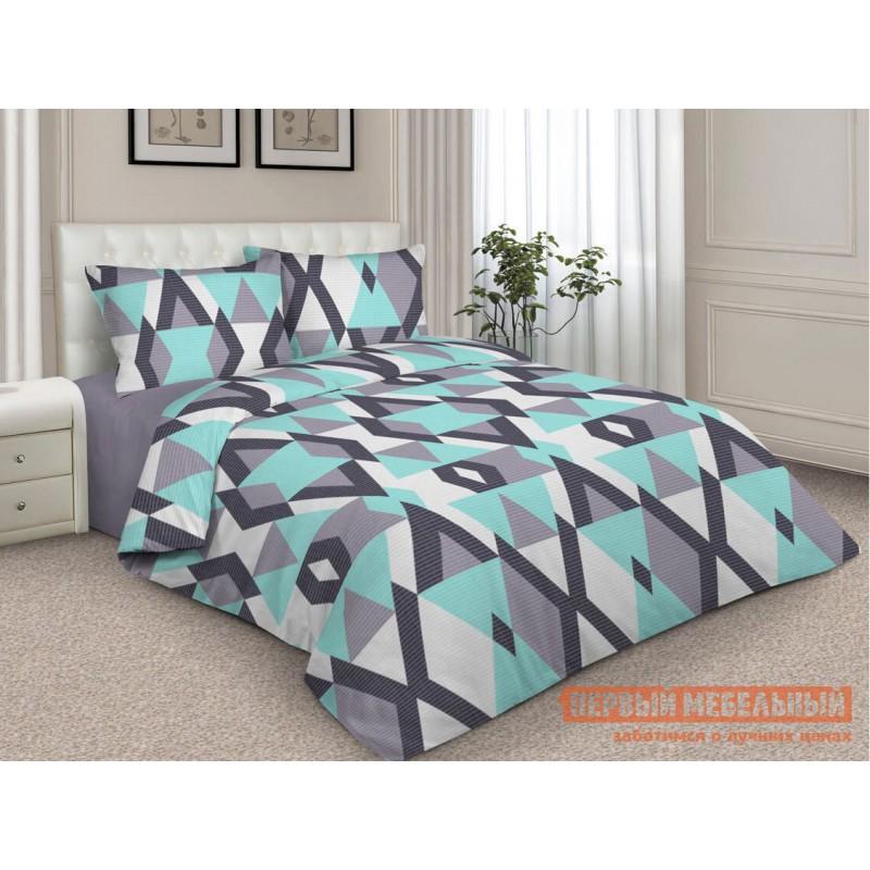 Комплект постельного белья  КПБ сатин набивной (ОСНОВА СНОВ) FURION Цветная геометрия, Двуспальный