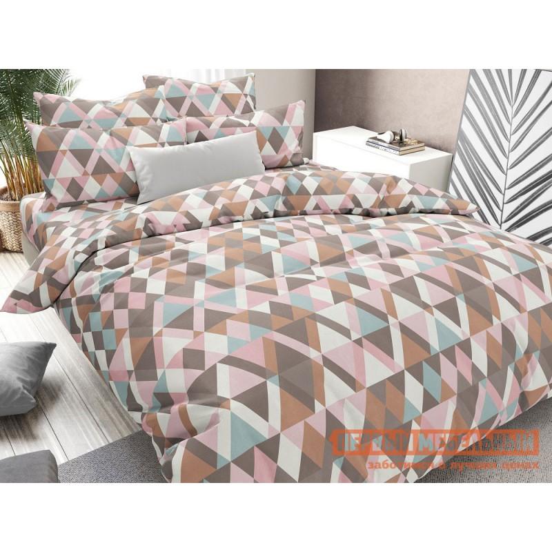 Комплект постельного белья  КПБ бязь гравитация, розовый Гравитация, розовый, бязь, Евро