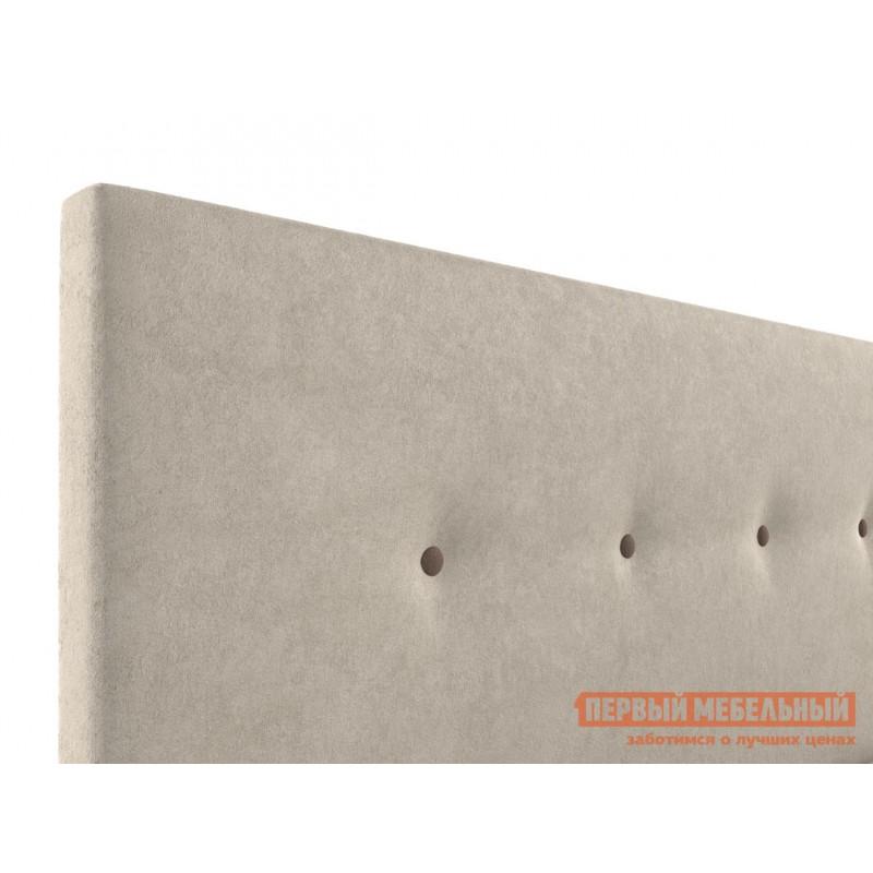 Двуспальная кровать  Колумбия ПМ Кремовый / Коричневый велюр, 1800 Х 2000 мм (фото 5)
