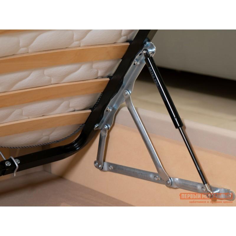 Двуспальная кровать  Колумбия ПМ Кремовый / Коричневый велюр, 1800 Х 2000 мм (фото 6)