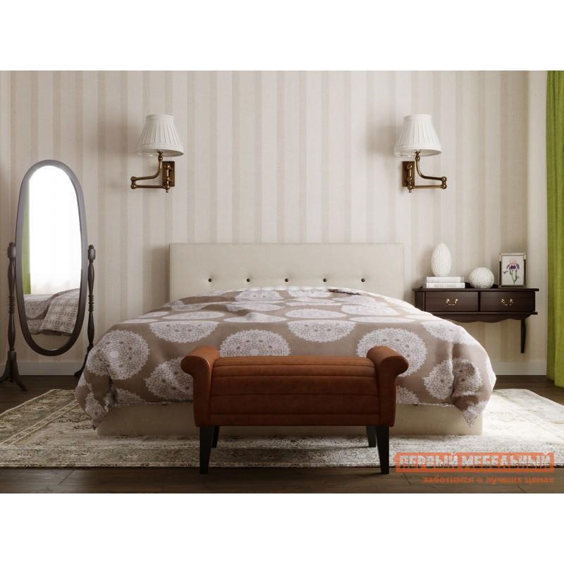 Двуспальная кровать  Колумбия ПМ Кремовый / Коричневый велюр, 1800 Х 2000 мм (фото 10)