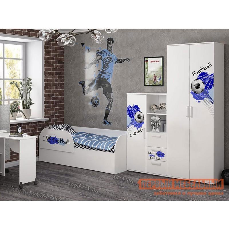 Шкаф детский  Трио шкаф для одежды ШК-09 Белый, король спорта (фото 3)