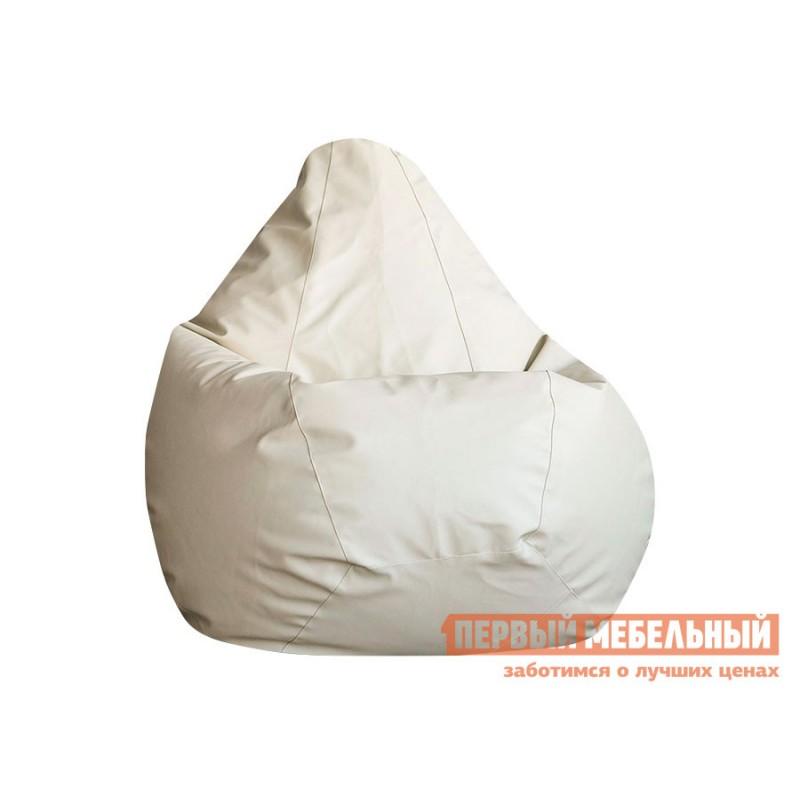Кресло-мешок  Кресло-мешок Ашли Кремовая экокожа, 2XL