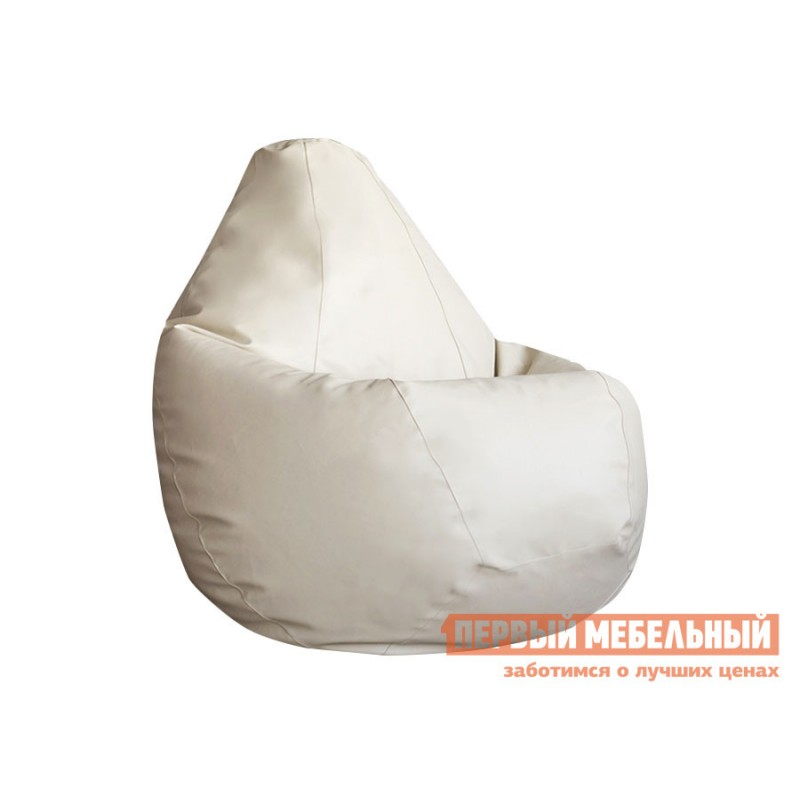 Кресло-мешок  Кресло-мешок Ашли Кремовая экокожа, 2XL (фото 2)