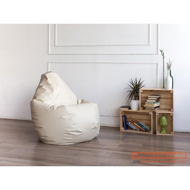 Кресло-мешок  Кресло-мешок Ашли Кремовая экокожа, 2XL (фото 3)