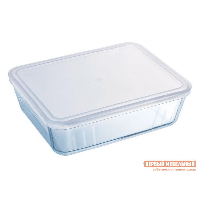 Форма для выпечки  Контейнер с крышкой Cook Freez 27x22x9см 4л прямоугольный Стекло