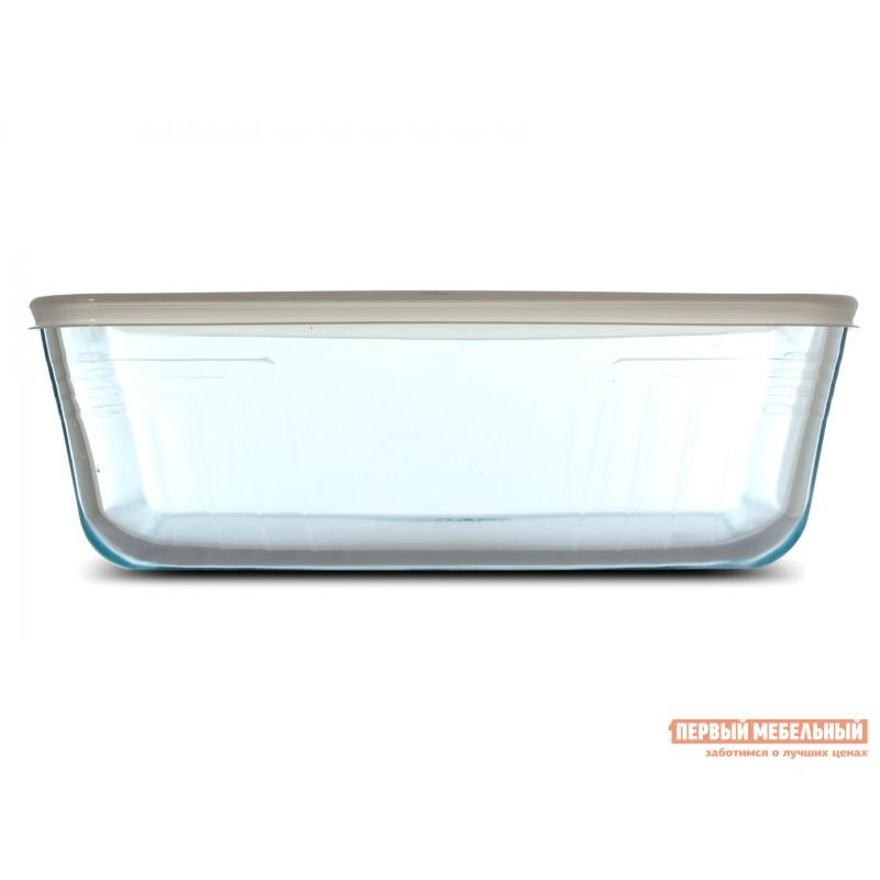 Форма для выпечки  Контейнер с крышкой Cook Freez 27x22x9см 4л прямоугольный Стекло (фото 3)