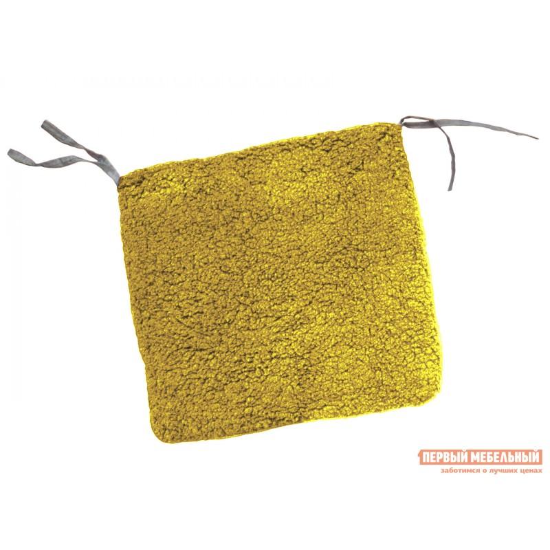 Декоративная подушка  Галета 40х40 на молнии шерпа Кемел