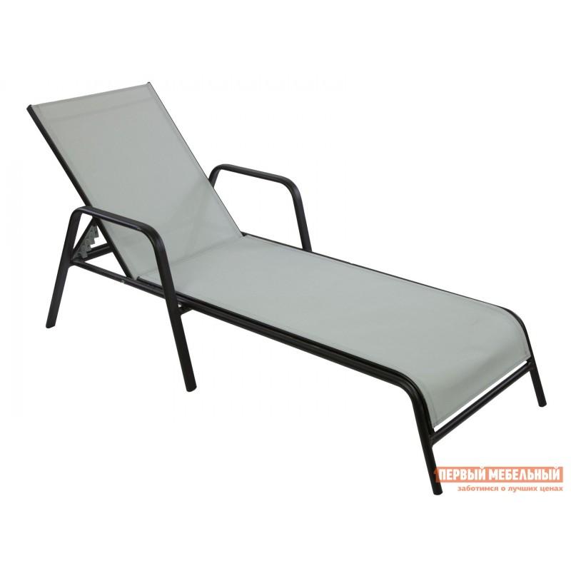 Шезлонг  NEAPOL Черный, металл / Серый, текстилен