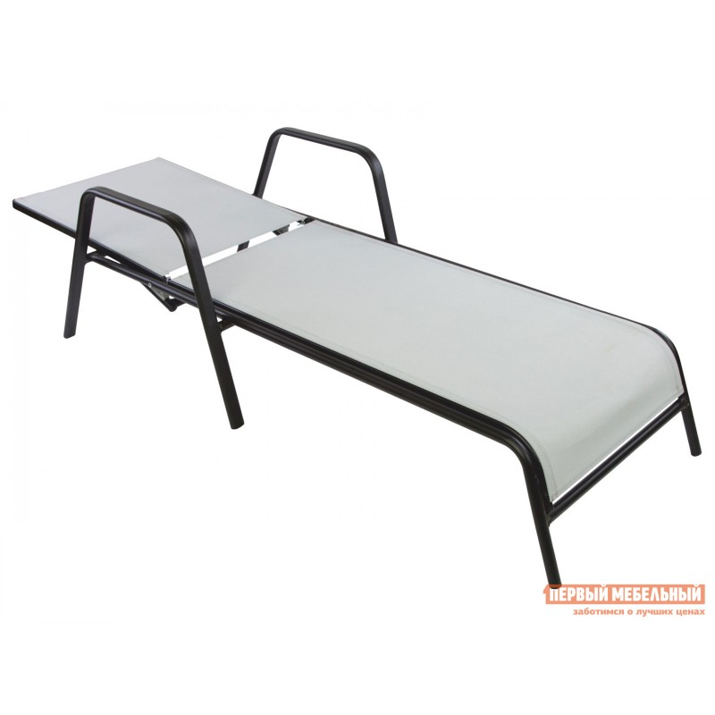 Шезлонг  NEAPOL Черный, металл / Серый, текстилен (фото 2)