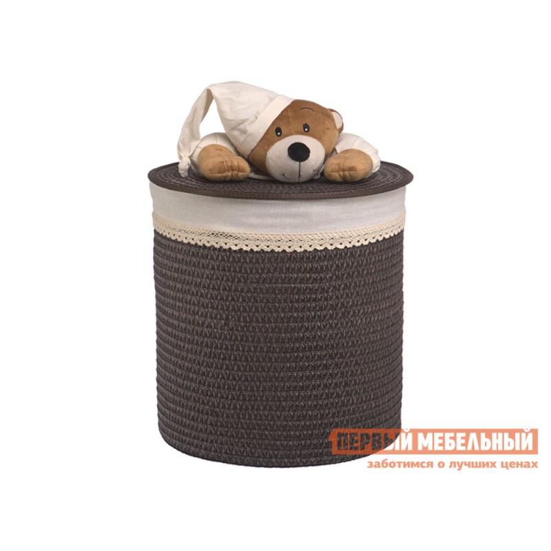 Корзина для хранения  Медвежонок Коричневый, ивовая лоза / Бежевый, ткань, M