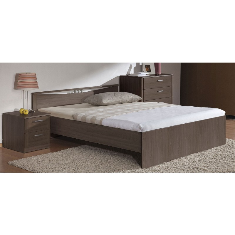 Двуспальная кровать  Кровать Мелисса Шимо темный, 1600 Х 2000 мм (фото 2)