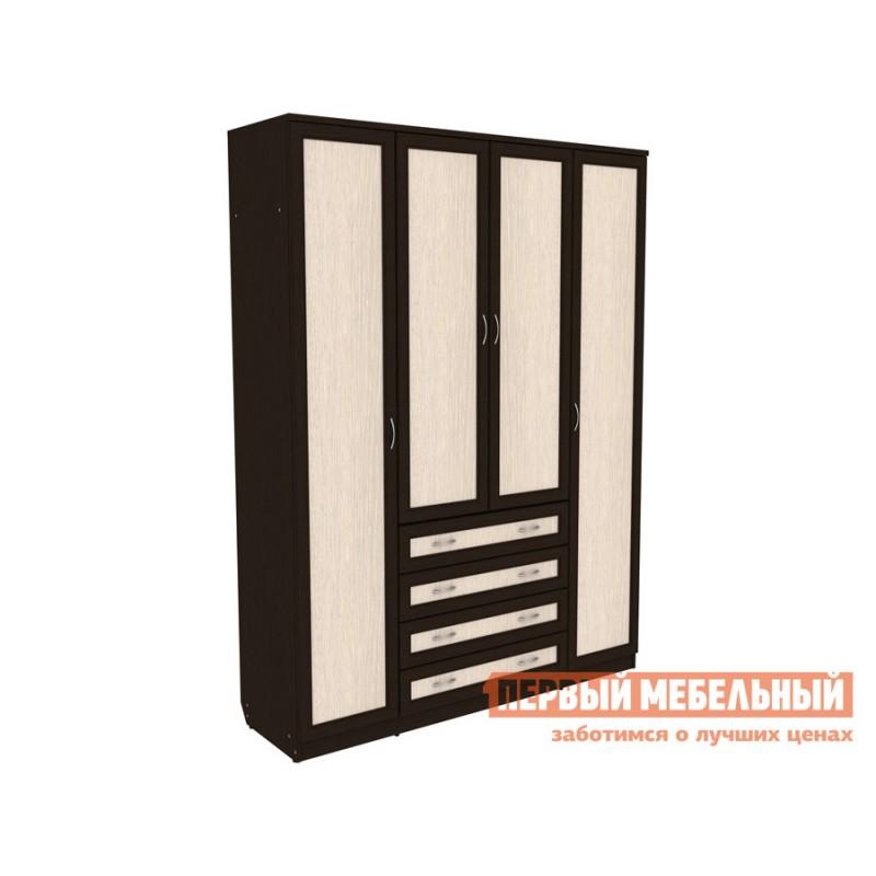 Распашной шкаф  Мерлен 110 Венге / Дуб Атланта