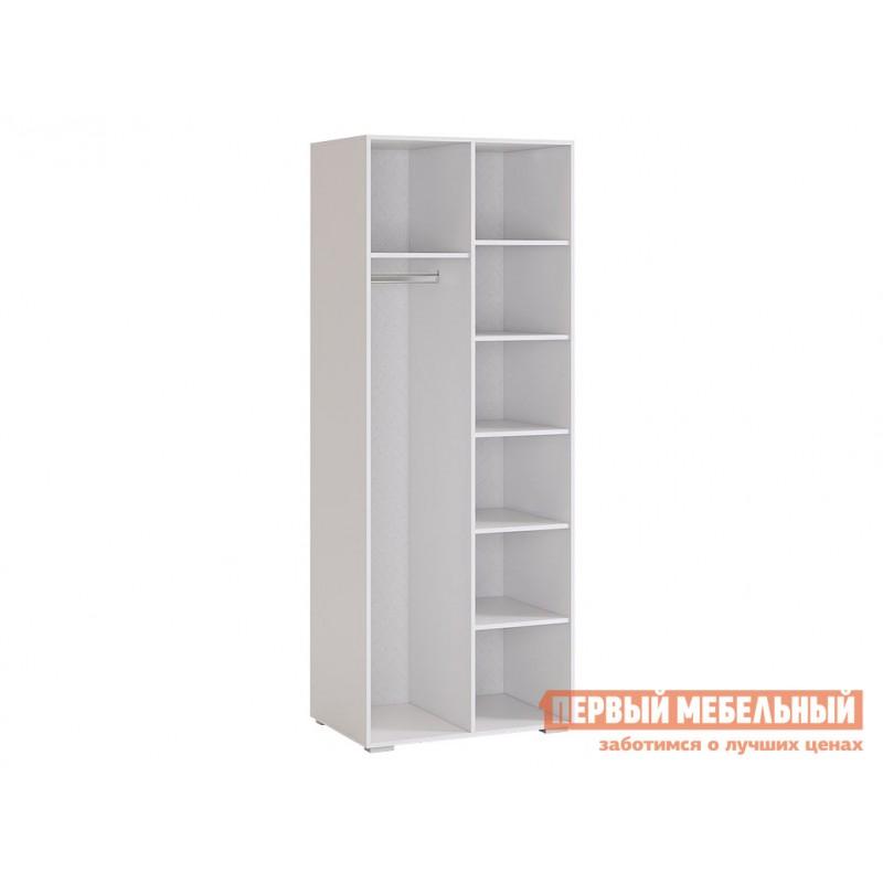 Детский шкаф  Гламур Шкаф 2-створчатый Белый / Белый глянец (фото 2)