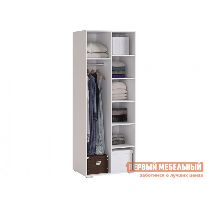 Детский шкаф  Гламур Шкаф 2-створчатый Белый / Белый глянец (фото 3)