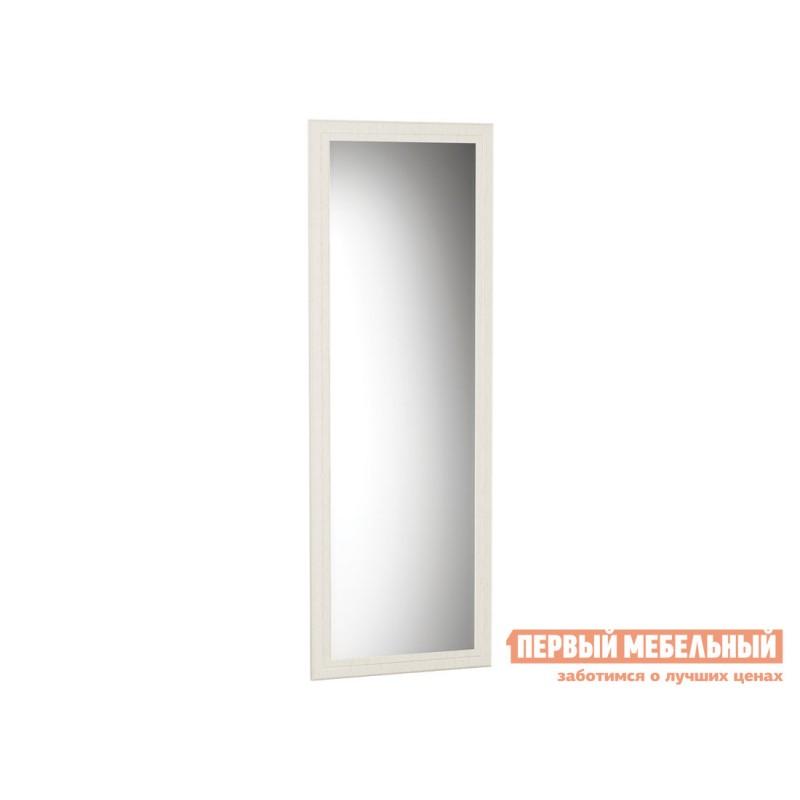 Настенное зеркало  Зеркало Ливерпуль Белый, текстура дерева
