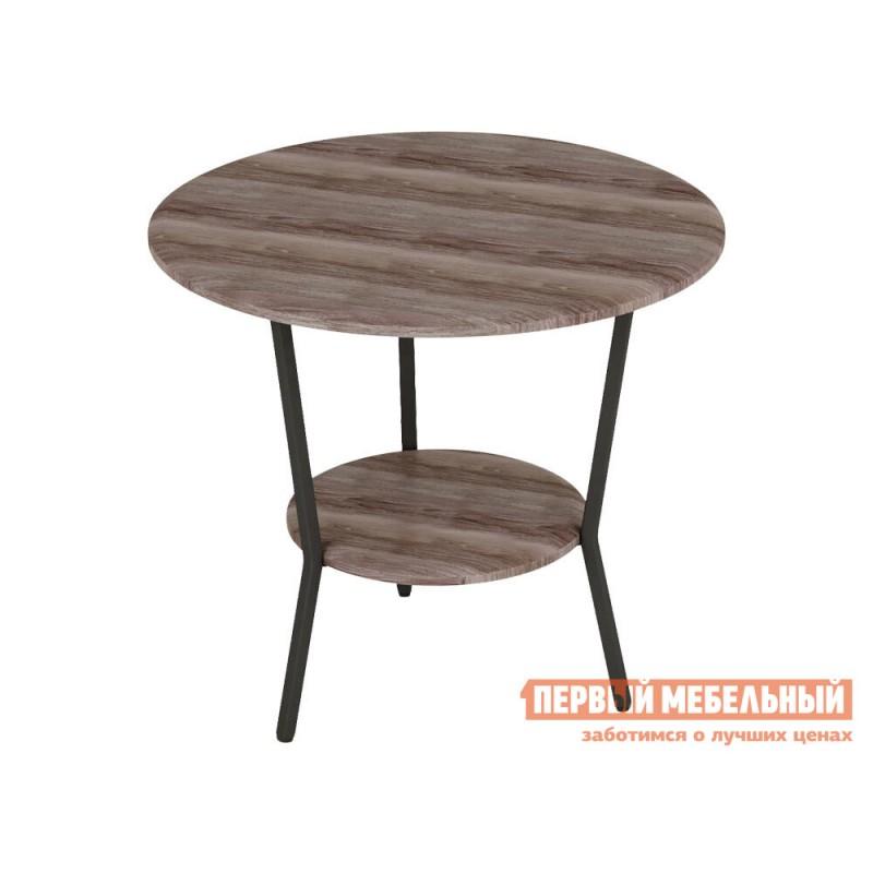 Журнальный столик  ШОТ Грецкий орех / Серый, металл