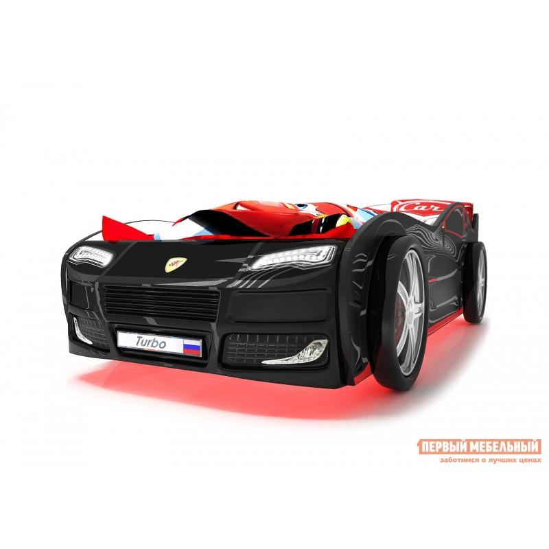 Кровать-машина  Турбо с ПМ Черный (Турбо), Без подсветки (фото 3)