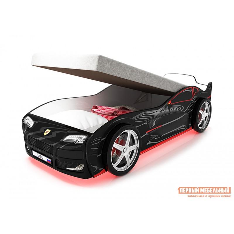 Кровать-машина  Турбо с ПМ Черный (Турбо), Без подсветки (фото 5)