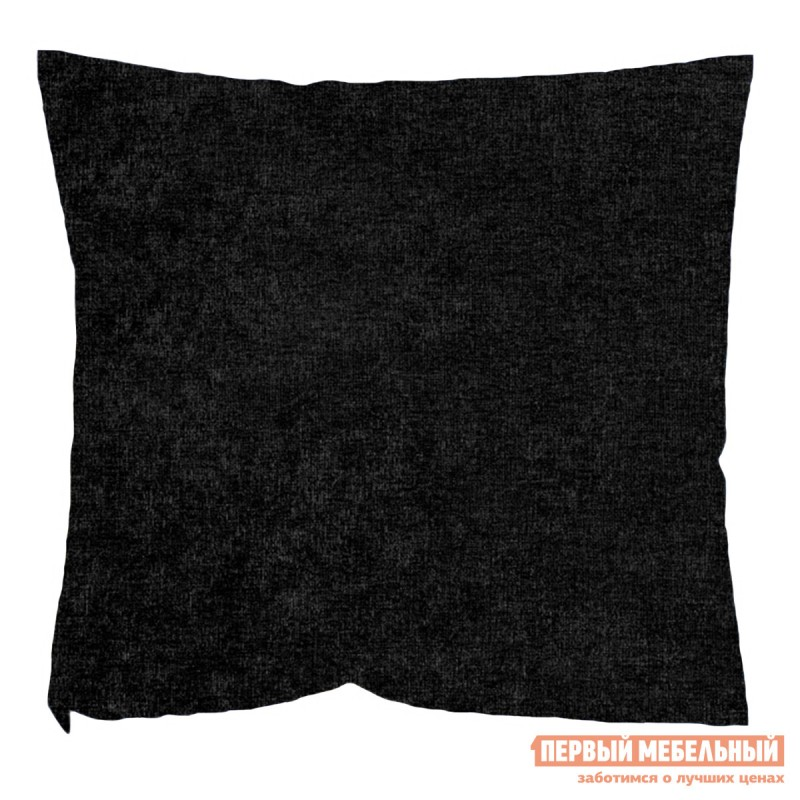 Декоративная подушка  Черный Микровельвет Черный микровельвет