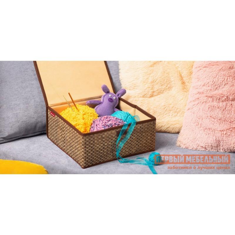 Кофр  Коробка для хранения с крышкой 27х25х12см Бежевый (фото 2)