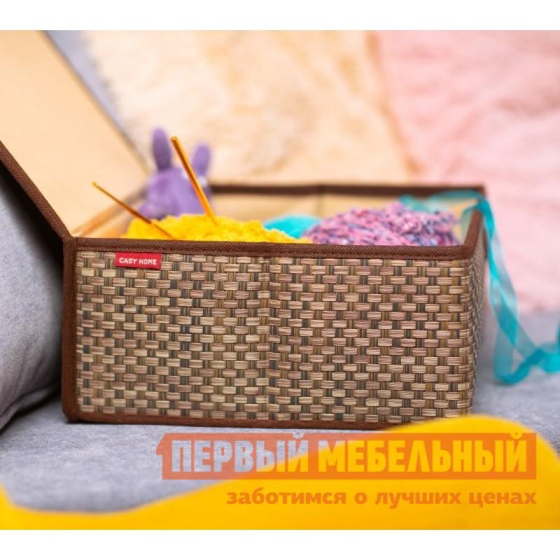 Кофр  Коробка для хранения с крышкой 27х25х12см Бежевый (фото 3)