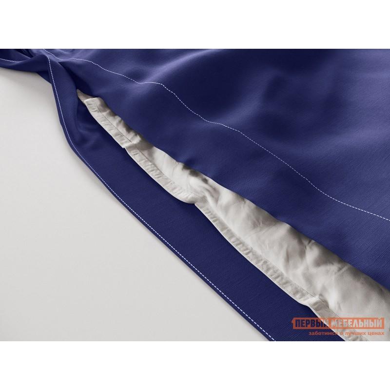 Комплект постельного белья  КПБ сатин однотонный (синий ОСНОВА СНОВ) Синий, сатин, Двуспальный (фото 3)