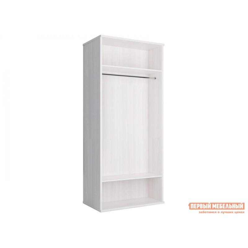 Распашной шкаф  Шкаф 2-х дверный Парма НЕО Ясень анкор светлый / Экокожа белая, С двумя зеркалами (фото 2)