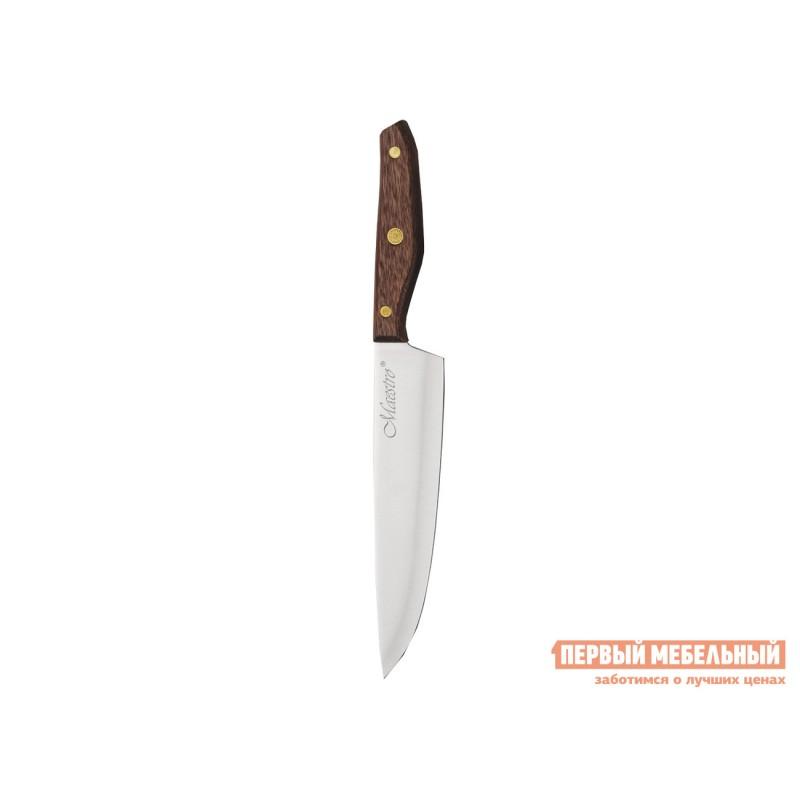 Нож  MR-1416 Набор ножей 6пр.  Maestro( 6пр дерев.колода, ручки) Коричневое дерево (фото 3)