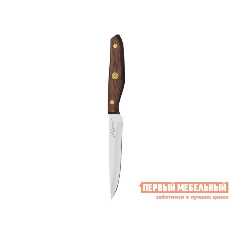 Нож  MR-1416 Набор ножей 6пр.  Maestro( 6пр дерев.колода, ручки) Коричневое дерево (фото 6)