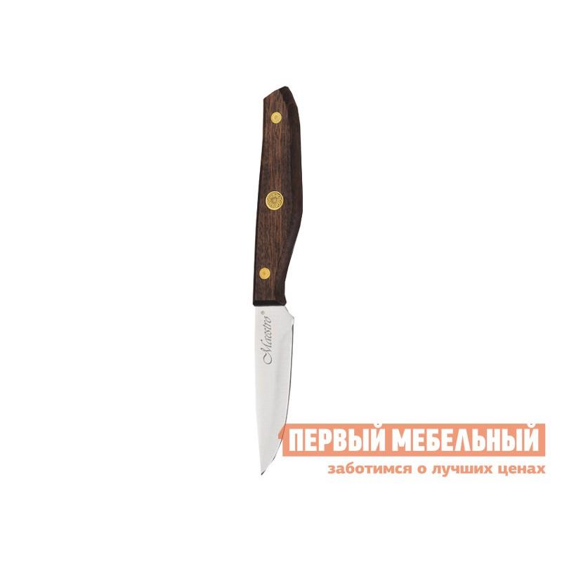 Нож  MR-1416 Набор ножей 6пр.  Maestro( 6пр дерев.колода, ручки) Коричневое дерево (фото 7)