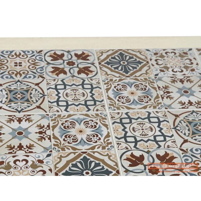 Кухонный стол  Стол Tanger СТ 3052 Античный белый / Плитка марокко (фото 3)