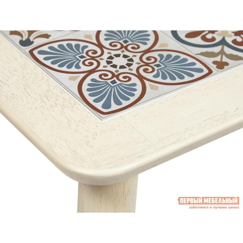 Кухонный стол  Стол Tanger СТ 3052 Античный белый / Плитка марокко (фото 4)