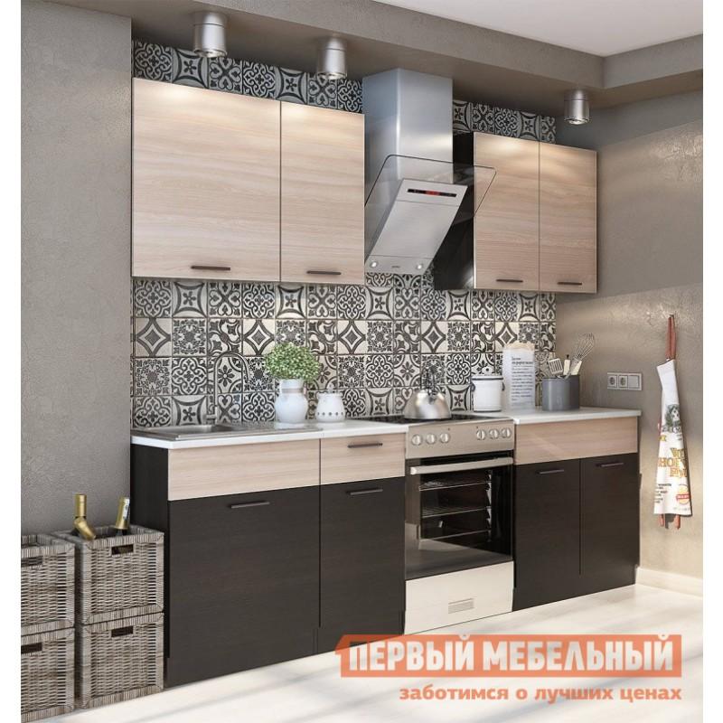 Кухонный гарнитур  Дуэт 1.8 м Дуб феррара / Ясень шимо светлый