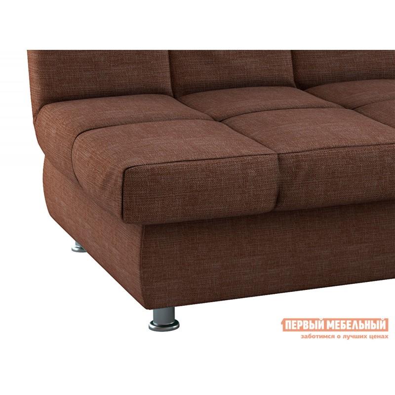 Прямой диван  Диван Уют / Диван Уют Люкс Кофейный, рогожка, Независимый пружинный блок (фото 7)